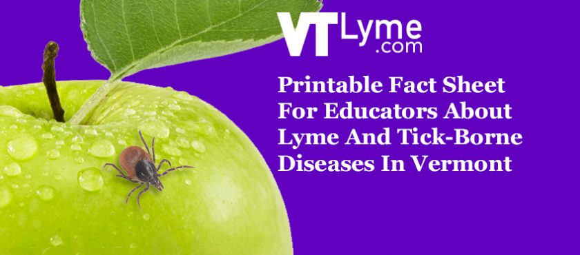 Printable Fact Sheet For Educators About Lyme And Tick-Borne Diseases