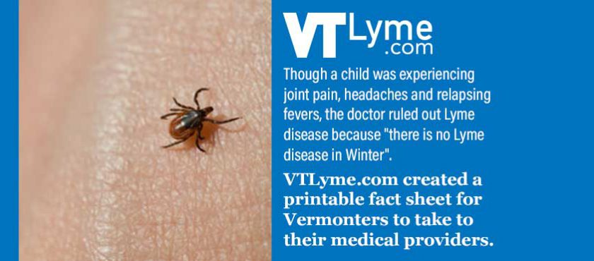 Printable Fact Sheet for Physicians about Lyme and Tick-borne Diseases in Vermont