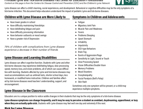 Printable Fact Sheet for Education Professionals