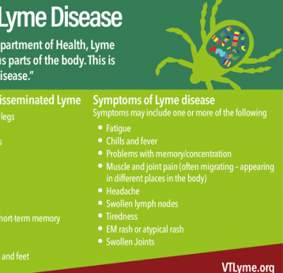 Vermont has one of the highest rates of Lyme disease in the