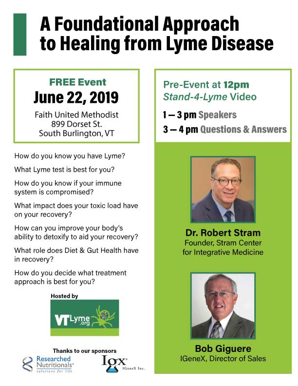 Tick-borne Disease Experts to Speak in Burlington - Vermont Lyme